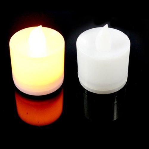 Vktech 12Pcs Led Flash Electronic Flameless Candle Light Lamp (Yellow)