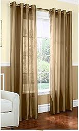 1 X 1kidandaheadache\'s Faux Silk Panel Drape Curtain Window Treatmeant 8 Grommets 55\