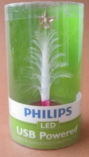 Philips Led Usb Powered Mini Color Changing Christmas Tree. Great For Connecting To A Work Computer On The Desk. Compatible With Any Standard Computer Usb Port.