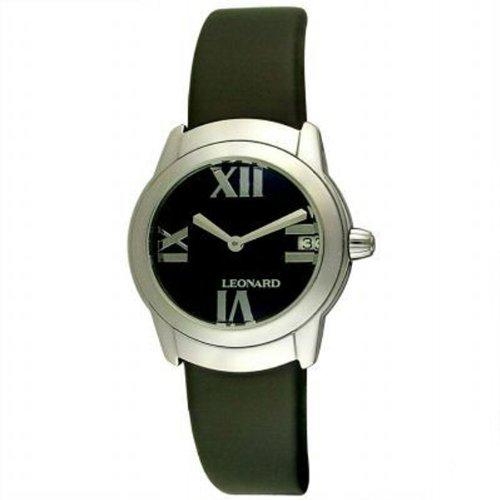 Leonard Women's SP2Q100/40/0000 Sphere Black Rubber Watch