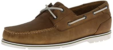 Rockport Men's Summer Tour 2 Eye Boating Shoe,Golden/Beige,7 M US