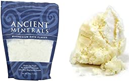 Magnesium Bath Flakes Salts and Shea Butter