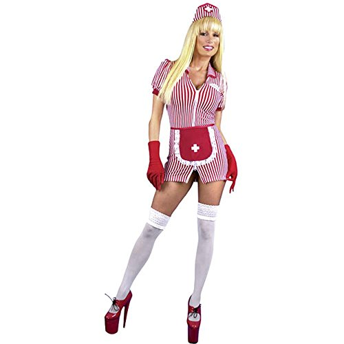 Sexy Candy Striper ostume (Size:X-large 14-16)