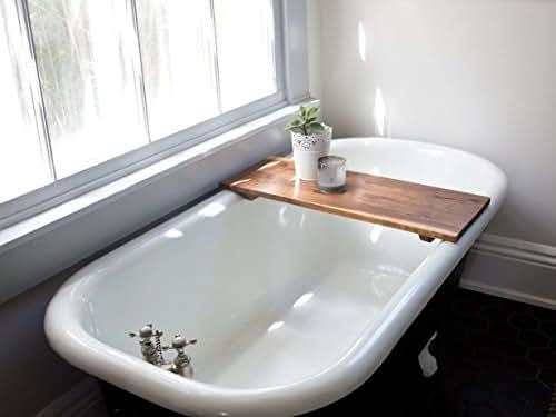 modern bathtub tray caddy wooden bath tub caddy smooth natural bath shelf walnut. Black Bedroom Furniture Sets. Home Design Ideas