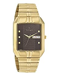 Titan Brown Dial Color Analogue Watch For Men - 9264ym04