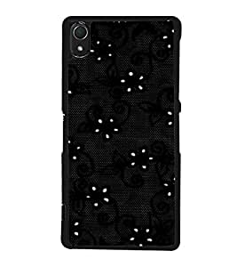 printtech Floral Net Pattern Back Case Cover for Sony Xperia Z3 , Sony Xperia Z3 D6653 D6603