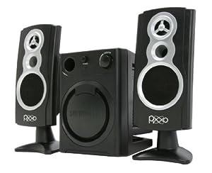 PIXXO Multimedia Speaker, 2.1 Channel Stereo, Amplifier, 3-Inch Subwoofer, Black _Retail