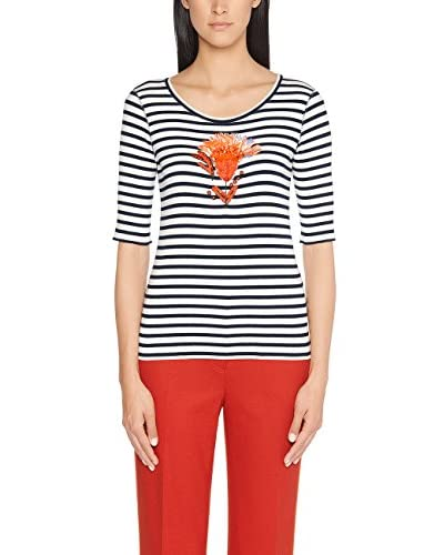 Marc Cain Collections T-Shirt Manica Corta [Blu/Bianco]