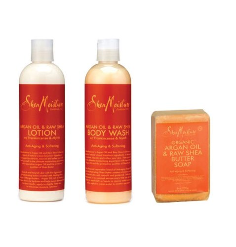 Shea Moisture Argan Oil & Raw Shea Butter Skin Care Trio