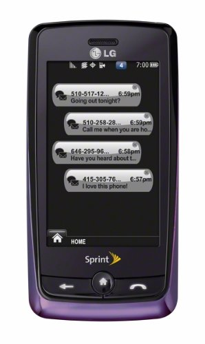 LG Rumor Touch Phone, Purple (Sprint)