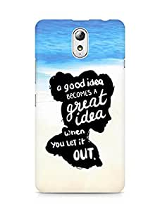 AMEZ a good idea becomes a great idea when you let it out Back Cover For Lenovo Vibe P1M
