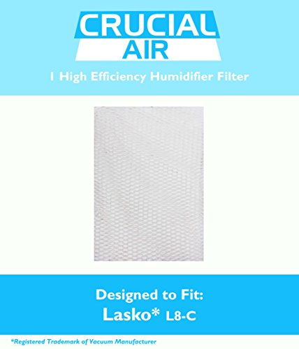 Lasko L8-C Humidifier Filter Fits Lasko Natural Cascade 1128 & 1129, Designed & Engineered by Crucial Air - 1