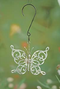 Scroll Butterfly Decorative Spinner Size: Small, Color: Green