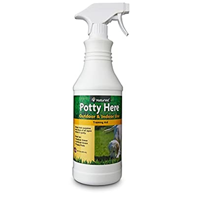 NaturVet Potty Here Training Aid Spray for Puppies and Dogs, Liquid, Made in USA