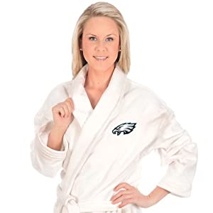 Buy McArthur Sports Philadelphia Eagles Team Logo Embroidered Bath Robe One Size Fits Most by WinCraft