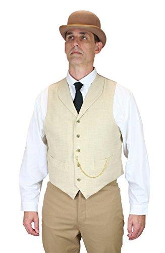 Historical-Emporium-Mens-Thatcher-Linen-Vest