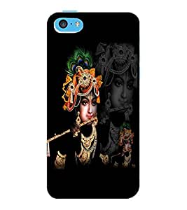ColourCraft Lord Krishna Design Back Case Cover for APPLE IPHONE 5C