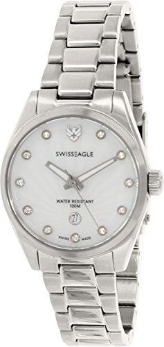Swiss Eagle SE-6048-22 - Reloj para mujeres, correa de acero inoxidable