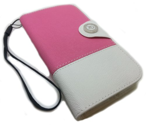 NEW Stylish PU Leather Wallet Pouch Case For Samsung Galaxy S4 SIV i9500 With FREE metal dust cap (Pink) Black Friday & Cyber Monday 2014