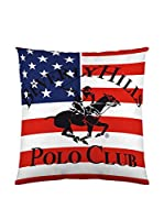 Beverly Hills Polo Club Funda De Cojín Atlanta (Blanco / Rojo)