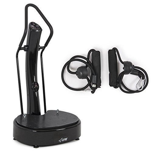 Akonza 1000W Fitness Slim Full Body Vibration Platform Exercises Machine, Black