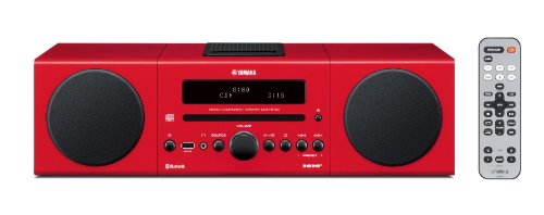 Review and Buying Guide of The Best Yamaha MCRB142 Micro Component System - Red (Wireless Bluetooth, Digital Docking, USB Intelli Alarm)