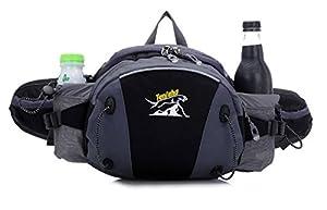 ZERD Multi-Functional Outdoor Sport Waist Pack Bag Pouch Belt Bumbag With Adjustable Shoulder Strap Black