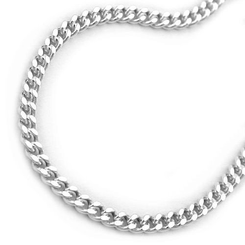 jewellery necklace, thin curb chain, silver 925