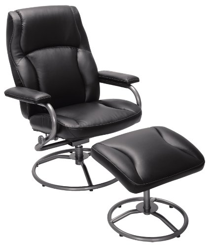 Swivel Recliner With Ottoman front-424204
