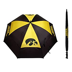 Team Golf Iowa Hawkeyes NCAA 62 inch Double Canopy Umbrella TGO-21569