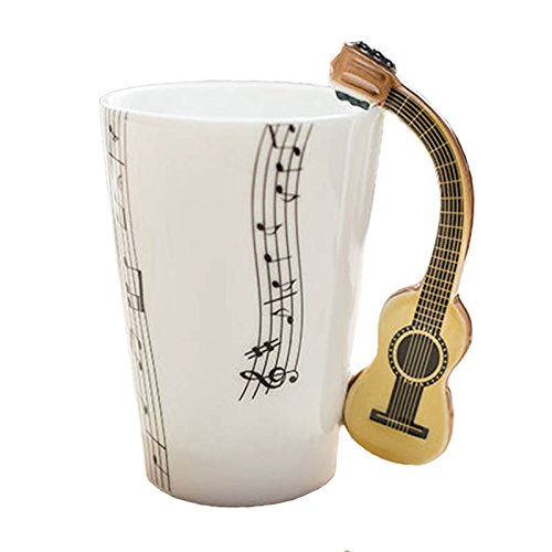 Tazza in ceramica smaltata music chitarra classica. MUSICA CHITARRE ROCK