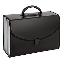 21-Pocket File Case, Legal Size, Black