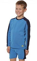 Laguna UPF 50+ 2-Piece Child\'s Swimsuit by Nozone in Smurf/Navy, Size 4