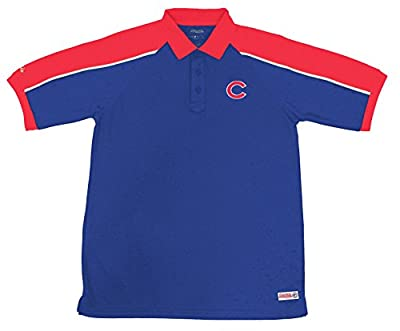 MLB Chicago Cubs Color Blocked Polo with Lined Mini Mesh Panels
