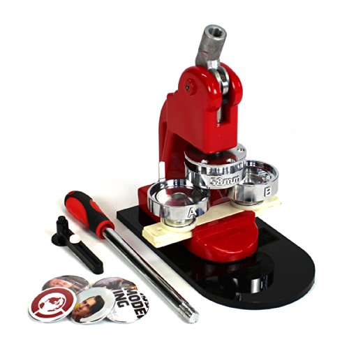 "Review Of 2.25"" Button Maker Machine Press + 1000 Buttons + Circle Cutter BM-225"