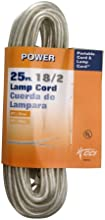 Coleman Cable 9430-89-21 162 25-Foot Lamp Cord Silver