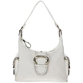 XOXO Mia Logo Handbag (White), O/S, White, 53245