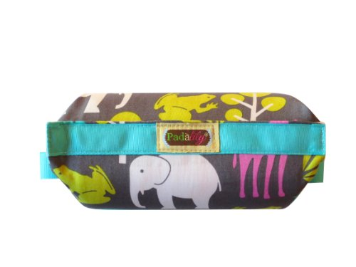 The Padalily Handle Car Seat Cushion - Jungle Bella - Must Have Gift For All New Moms - Reversible Cushion For 2 Different Fashion Statements