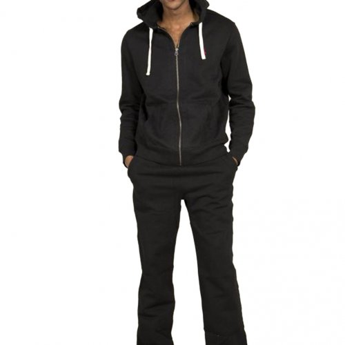 Ralph Lauren Polo Mens Classic Jersey Fleece Hooded Tracksuit (Top & Bottom) in Black - large