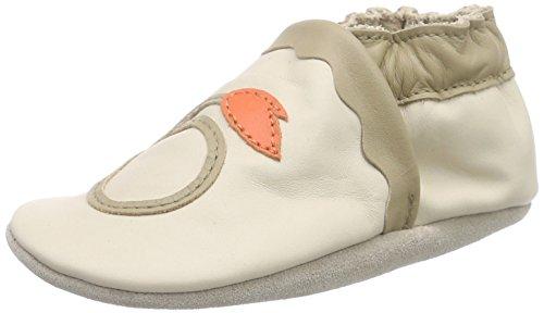 RobeezGLORY - Scarpine e pantofole primi passi  Unisex - Bimbi 0-24 , Beige (Beige (BEIGE CLAIR)), 17/18