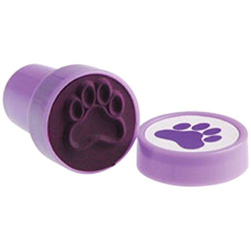 Lot Of 6 Purple Dog Puppy Paw Print Mini Stampers