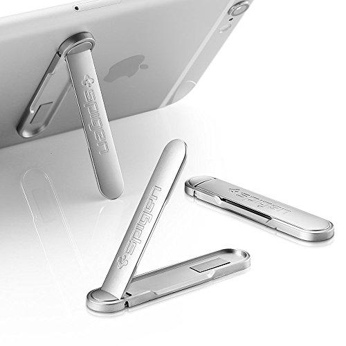 【Spigen】 スマートフォン用 スタンド, メタル キックスタンド [ コンパクト スタンド機能 ] iPhone 6s / Plus / SE / Galaxy S7 / Edge / Xperia Z5 / Z4 / Nexus 5X / HTC / P8 / P9 lite (U100, シルバー)