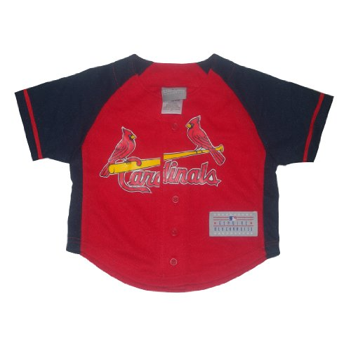 MLB St. Louis Cardinals Boys Button Down Baseball Jersey S(6/7) Red & Dark Blue at Amazon.com