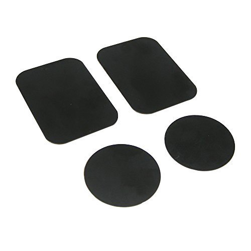 Metal Plate, Pop-Tech 4 Pack Universal Mount Metal Plate with Adhesive for Magnetic Car Mount Cell Phone Holder, 2 Rectangular and 2 Round (Hot Plate Cell Phone compare prices)