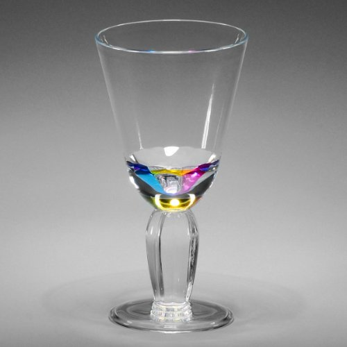 Wine goblets diamond 14 oz rainbow acrylic plastic wine for Glass or acrylic