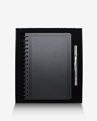Premium Wirebound Sketchbook - Black Hardcover Sketch Notebook Gift Box Pen Set - 200 Recycled White Pages - (A5, Blank Pages)