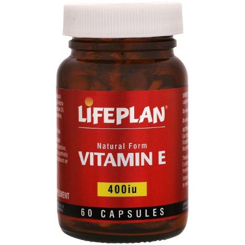 Lifeplan 400 iu Vitamin E 60 Capsules