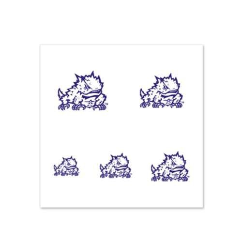 Tcu Horned Frogs Fingernail Tattoos - 4 Pack