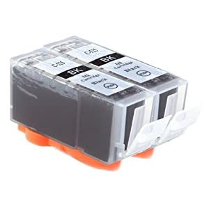 2x PGI525 (PGI-525PGBK) Black Compatible Ink Cartridges ...