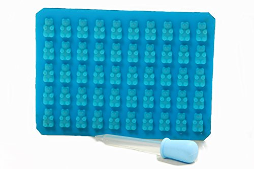 Find Discount 50 Cavity Silicone Gummy Bear Candy Mold WITH EASY FILL JELLO SHOT SYRINGE. Makes 50 Mini Gummy Candy Bears or Healthy Sugar Free Gummy Bear Vitamins. Tasty Gummy Mold Recipes Included with PDF E Book
